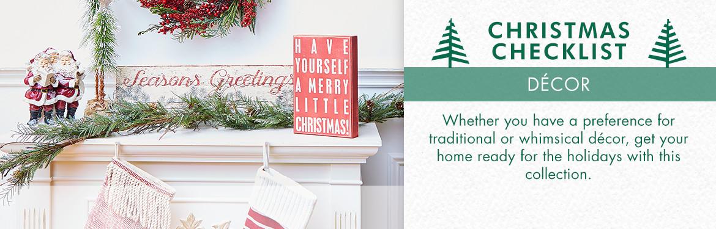 Christmas Checklist | Décor | zulily