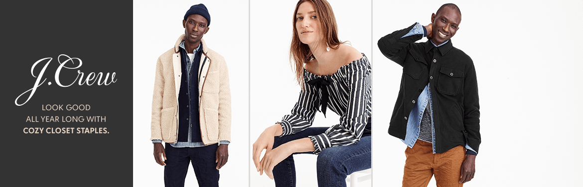 bcc3b0ba28 J. Crew. Look good all year long with cozy closet staples.